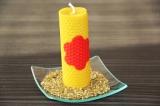 Voňavá sviečka z včelíchplátov