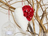 Srdce s perlami aružami