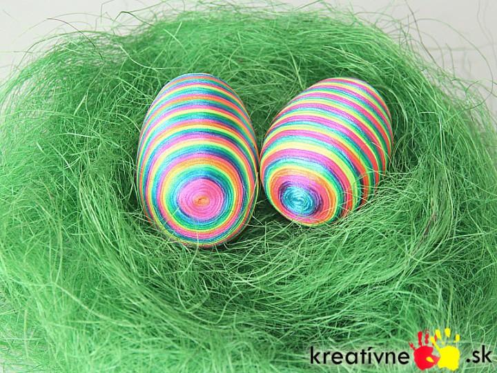Návod na veľkonočné vajíčko z polystyrénového vajíčka