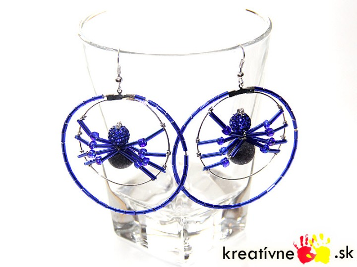 Návod na náušnice s pavúkom